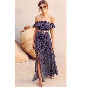 Lulus Dream Love Off-the-Shoulder Maxi Dress